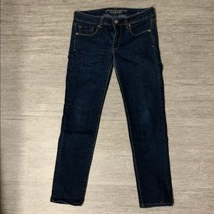 Super stretch dark wash American Eagle jeans